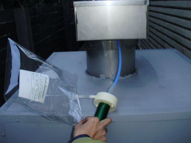 デオキーパー脱臭装置通過後の臭気測定