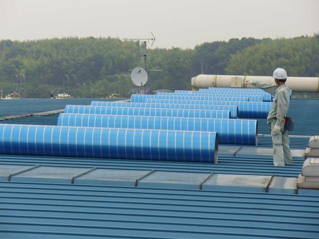 食品工場排気ダクト施工