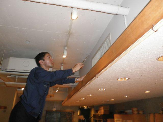 上の階で汚水・下水系臭気の発生源を確認