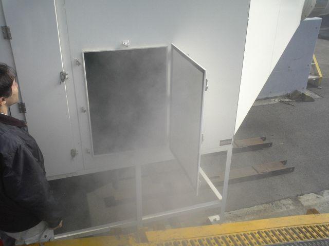 施工後、実際の排気にて脱臭効果を測定