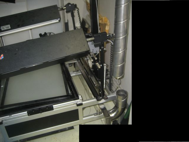 撮影台用排気装置