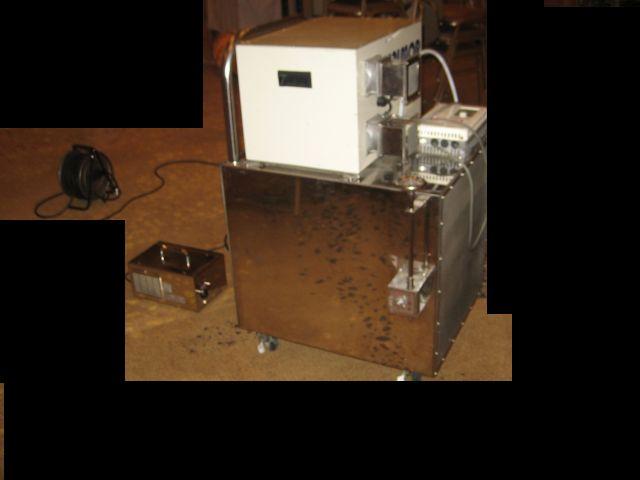 大型オゾン脱臭装置複数台にて脱臭