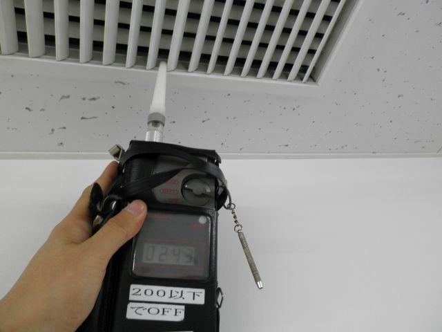 臭気センサーによる臭気変動