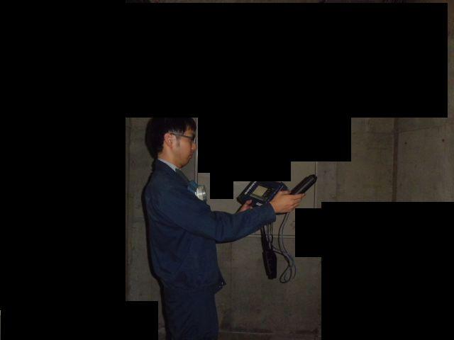 臭気測定機によるビフォアー及びアフターの臭気強度検査