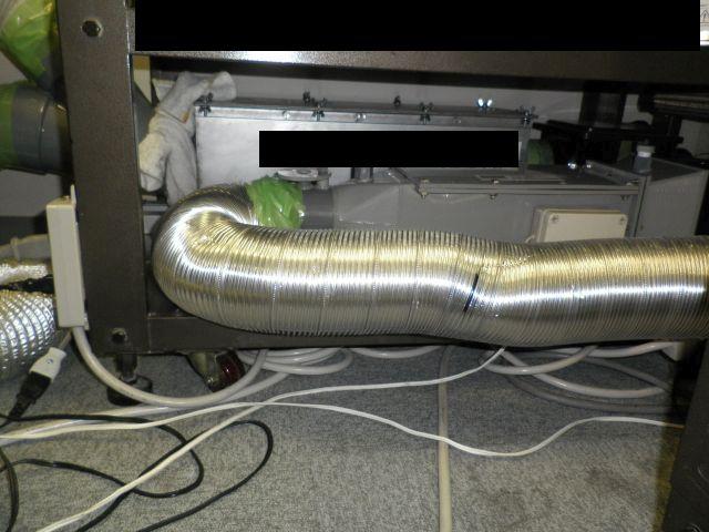 デオキーパーのテスト機で活性炭脱臭方式によるテスト