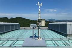 デオモニのガラリ収納箱+風向風速計+中継器