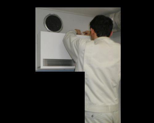 酸素クラスターの設置