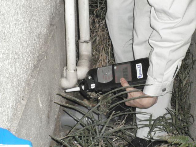 臭気測定機による確認