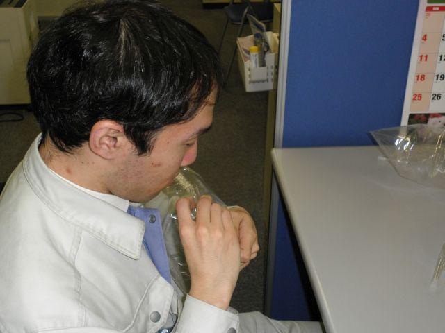 臭気判定士による異臭調査
