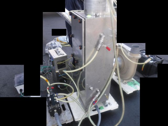 脱臭装置のデモ機