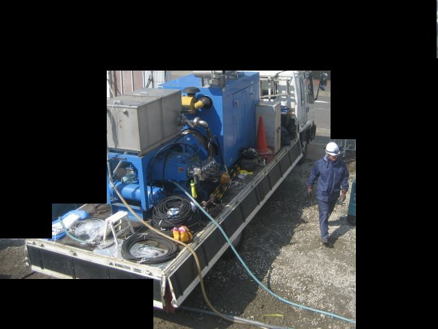 大型の専用マシン(煤除去)