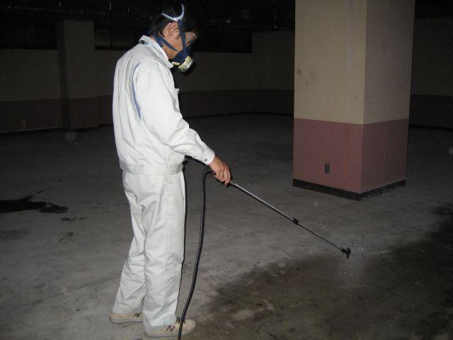 防カビ材・除カビ材の噴霧